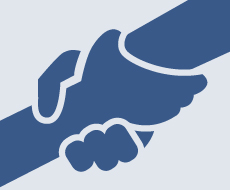 graphic of two hands clasped together