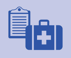 graphic of an emergency kit and an emergency plan
