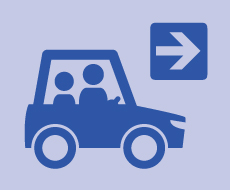 graphic of two people driving in a car