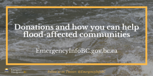 donation for BC flood-affected communities