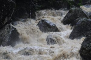 picture of water rushing over rocks